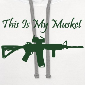 Men's White This is my Musket AR15 Shirt - Contrast Hoodie