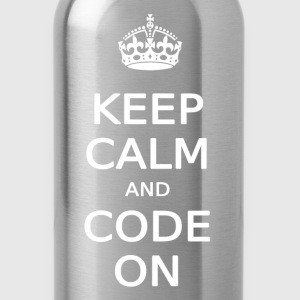 KEEP CALM AND CODE ON - Water Bottle