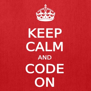 KEEP CALM AND CODE ON - Tote Bag