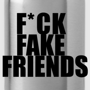Fuck fake friends Long Sleeve Shirts - Water Bottle