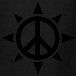 Peace Sign Compass Rose - Men's T-Shirt