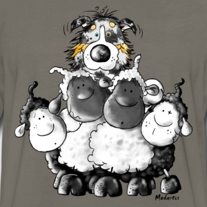 Australian Shepherd and sheep - Dog T-Shirts - Men's Premium Long Sleeve T-Shirt