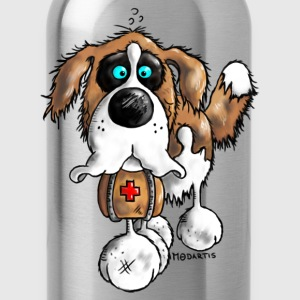 Bernhard - St. Bernard - dog  T-Shirts - Water Bottle