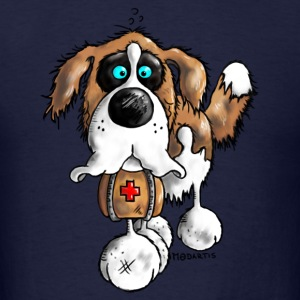 Bernhard - St. Bernard - dog  Hoodies - Men's T-Shirt