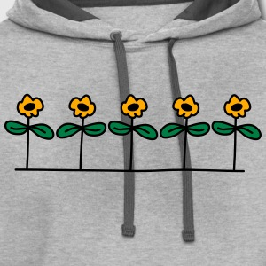 Flowers Design T-Shirts - Contrast Hoodie