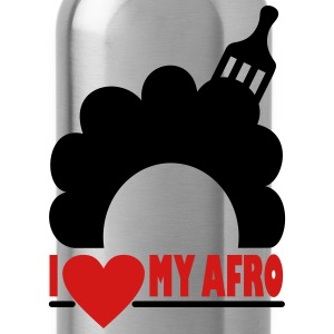 I Love My Afro Women's T-Shirts - Water Bottle