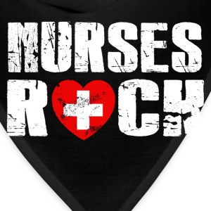 Nurse Shirt - nurses rock - Bandana