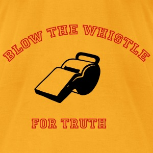Blow the whistle for Truth Bags & backpacks - Men's T-Shirt by American Apparel