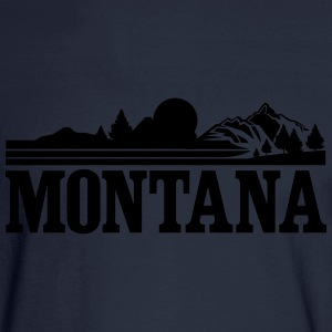 Montana Mountains Women's T-Shirts - Men's Long Sleeve T-Shirt