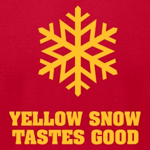 Yellow Snow Flake No.4 Long Sleeve Shirts - Men's T-Shirt by American Apparel