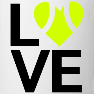Love tennis square design Tanks - Coffee/Tea Mug