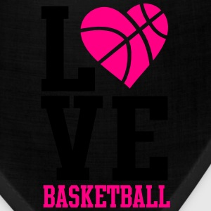 love basketball heart word Women's T-Shirts - Bandana