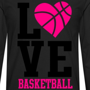 love basketball heart word Women's T-Shirts - Men's Premium Long Sleeve T-Shirt