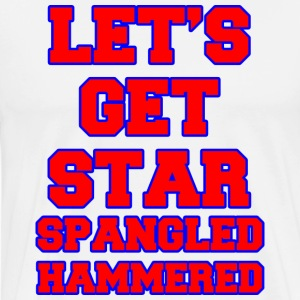 Let's Get Star Spangled Hammered Design Hoodies - Men's Premium T-Shirt