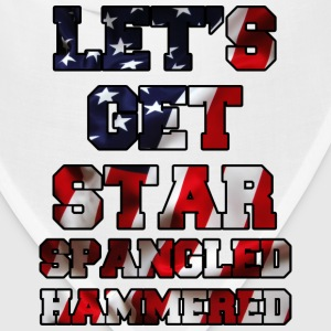 Let's Get Star Spangled Hammered Flag Design T-Shirts - Bandana