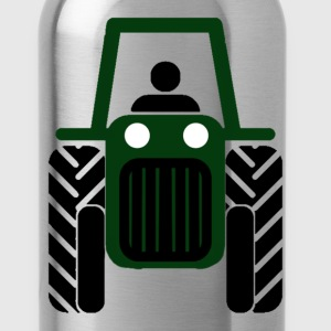 Green Tractor - Water Bottle