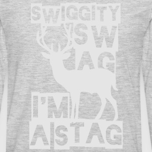 SWIGGITY SWAG I'M A STAG T-Shirts - Men's Premium Long Sleeve T-Shirt