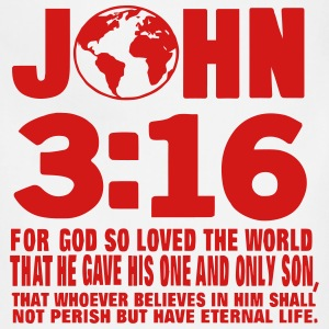 JOHN 3:16 FOR GOD SO LOVED THE WORLD T-Shirts - Adjustable Apron