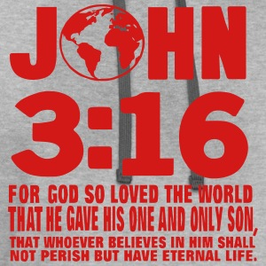 JOHN 3:16 FOR GOD SO LOVED THE WORLD T-Shirts - Contrast Hoodie