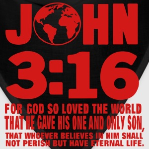 JOHN 3:16 FOR GOD SO LOVED THE WORLD Hoodies - Bandana