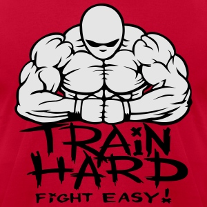Train hard fight easy. Hoodies - Men's T-Shirt by American Apparel