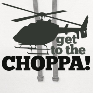 Get to the CHOPPA - Contrast Hoodie