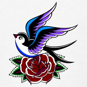 Swallow and Rose - Men's T-Shirt