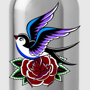 Swallow and Rose - Water Bottle