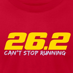 26.2 Can't Stop Running Tanks - Men's T-Shirt by American Apparel