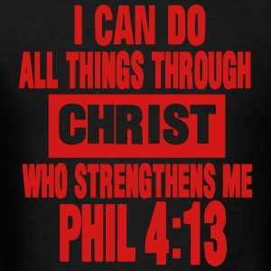 I CAN DO ALL THINGS THROUGH CHRIST  Hoodies - Men's T-Shirt
