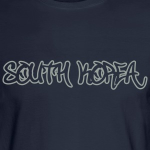 South Korea Graffiti Outline T-Shirts - Men's Long Sleeve T-Shirt