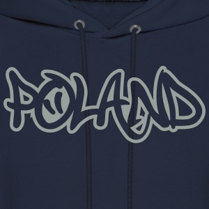 Poland Graffiti Outline T-Shirts - Men's Hoodie