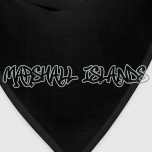 Marshall Islands Graffiti Outline T-Shirts - Bandana