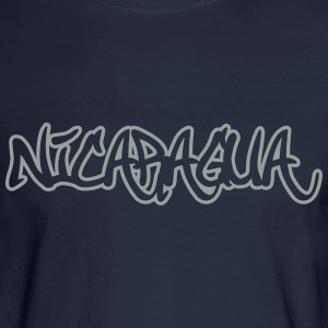 Nicaragua Graffiti Outline T-Shirts - Men's Long Sleeve T-Shirt