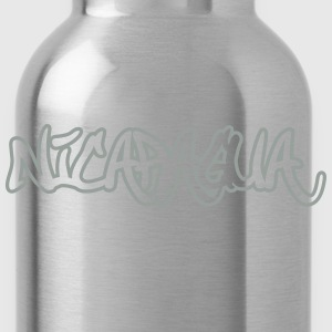 Nicaragua Graffiti Outline T-Shirts - Water Bottle