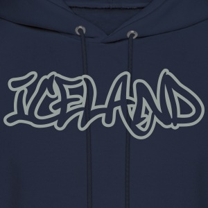 Iceland Graffiti Outline T-Shirts - Men's Hoodie