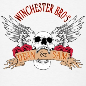 Winchester Bros Dean N Sam Death Angel 04 Buttons - Men's T-Shirt