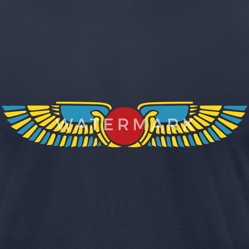 Winged Sun Disk, Solar symbol, Ra, Falcon, Cobra T-Shirts - Men's T-Shirt by American Apparel