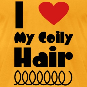 I Love My Coily Hair Bags & backpacks - Men's T-Shirt by American Apparel