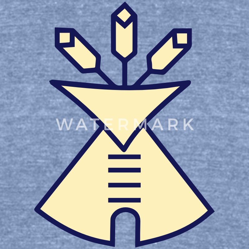 Native American Church, Sign, Symbol T-Shirts - Unisex Tri-Blend T-Shirt by American Apparel
