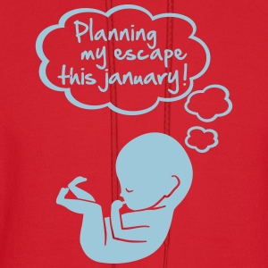 planning my escape this january Long Sleeve Shirts - Men's Hoodie