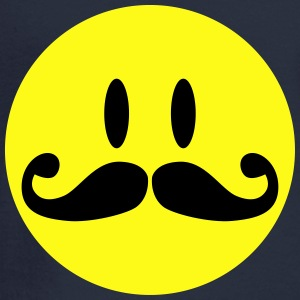 Mustache Smiley Tanks - Men's Long Sleeve T-Shirt
