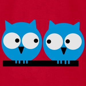 Two owls Other - Men's T-Shirt by American Apparel
