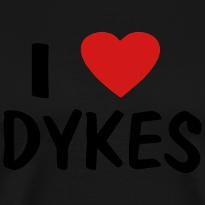 I LOVE DYKES - Men's Premium T-Shirt