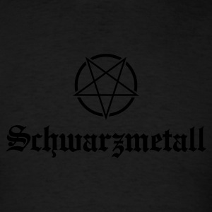 Schwarzmetall - German for Black Metal No.1 Long Sleeve Shirts - Men's T-Shirt