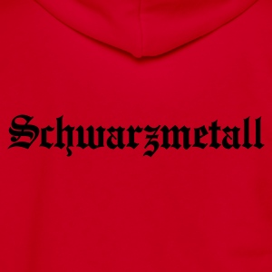 Schwarzmetall - German for Black Metal (only) No.1 Women's T-Shirts - Unisex Fleece Zip Hoodie by American Apparel