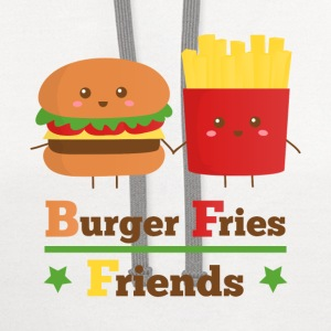 burger and fries friends BFF Women's T-Shirts - Contrast Hoodie