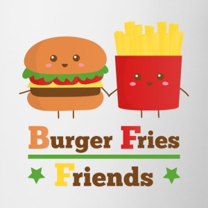 burger and fries friends BFF Women's T-Shirts - Coffee/Tea Mug