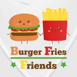 burger and fries friends BFF Women's T-Shirts - Bandana