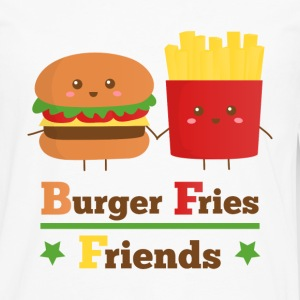 burger and fries friends BFF Women's T-Shirts - Men's Premium Long Sleeve T-Shirt